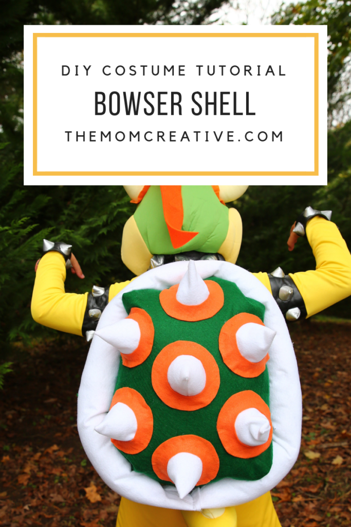 DIY Tutorial: Bowser/King Koopa Shell for Halloween Costume | The Mom Creative