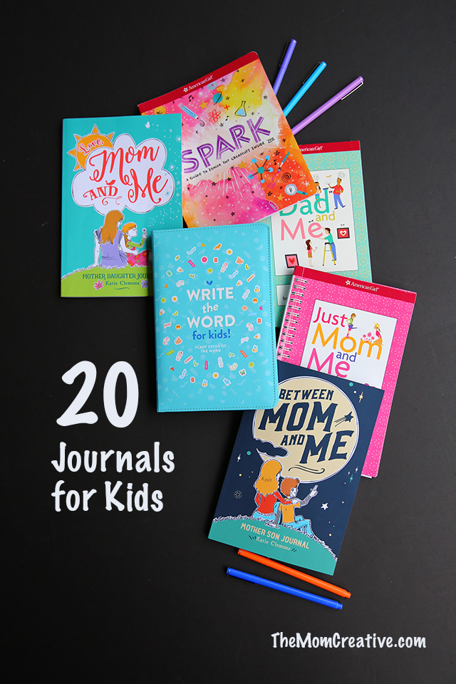20 journals for kids, tweens and teens