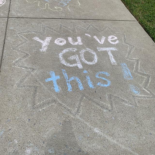 Teacher chalk messages