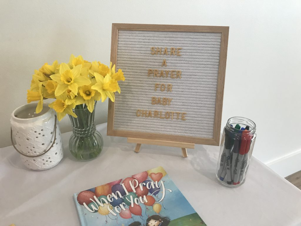 Best books to give at a baby shower - When I Pray for You as a guest book