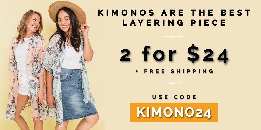 2 for $24 kimonos